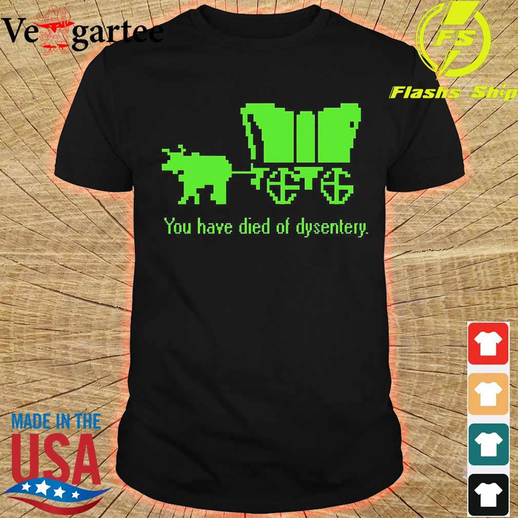 You have died of dysentery shirt