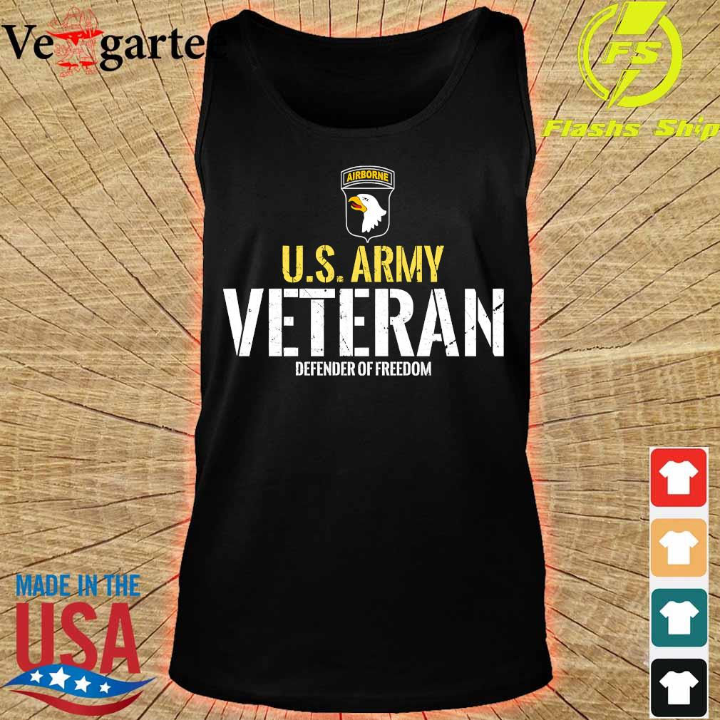 101st Airborne Patch Cadeaux logo U.S Army veteran defender of freedom s tank top