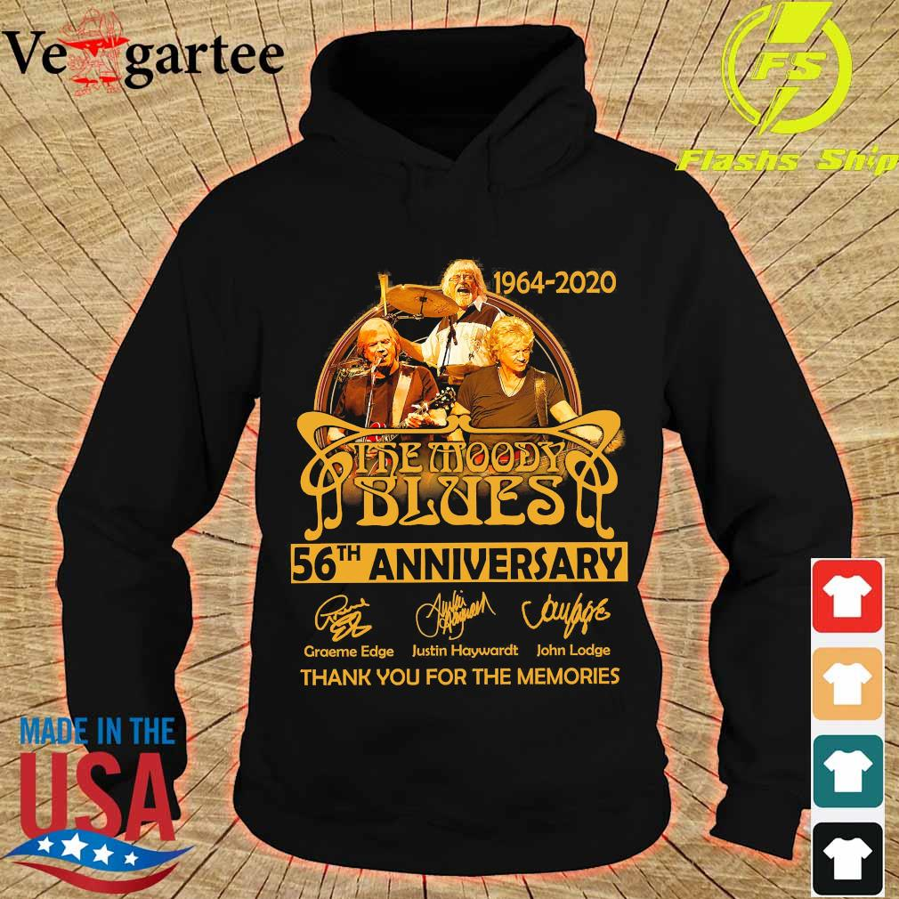 1964 2020 The Moody Blues 56th anniversary thank You for the memories signatures s hoodie