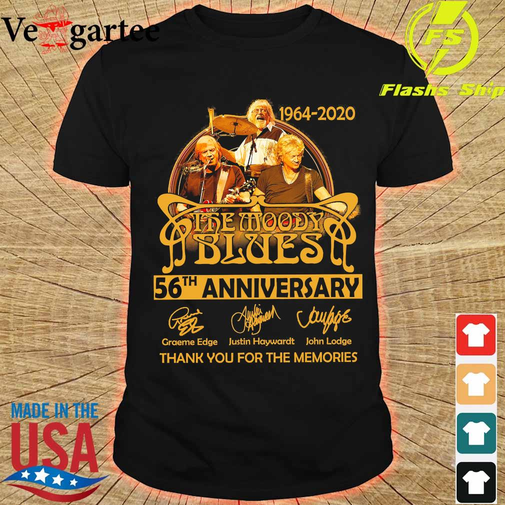 1964 2020 The Moody Blues 56th anniversary thank You for the memories signatures shirt