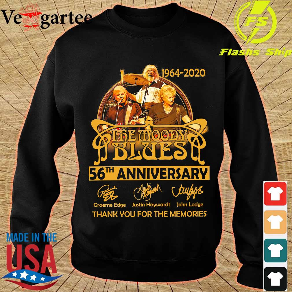 1964 2020 The Moody Blues 56th anniversary thank You for the memories signatures s sweater