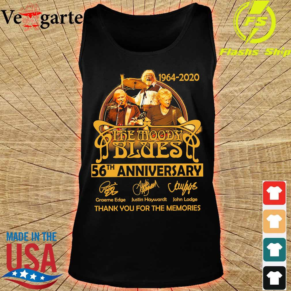 1964 2020 The Moody Blues 56th anniversary thank You for the memories signatures s tank top