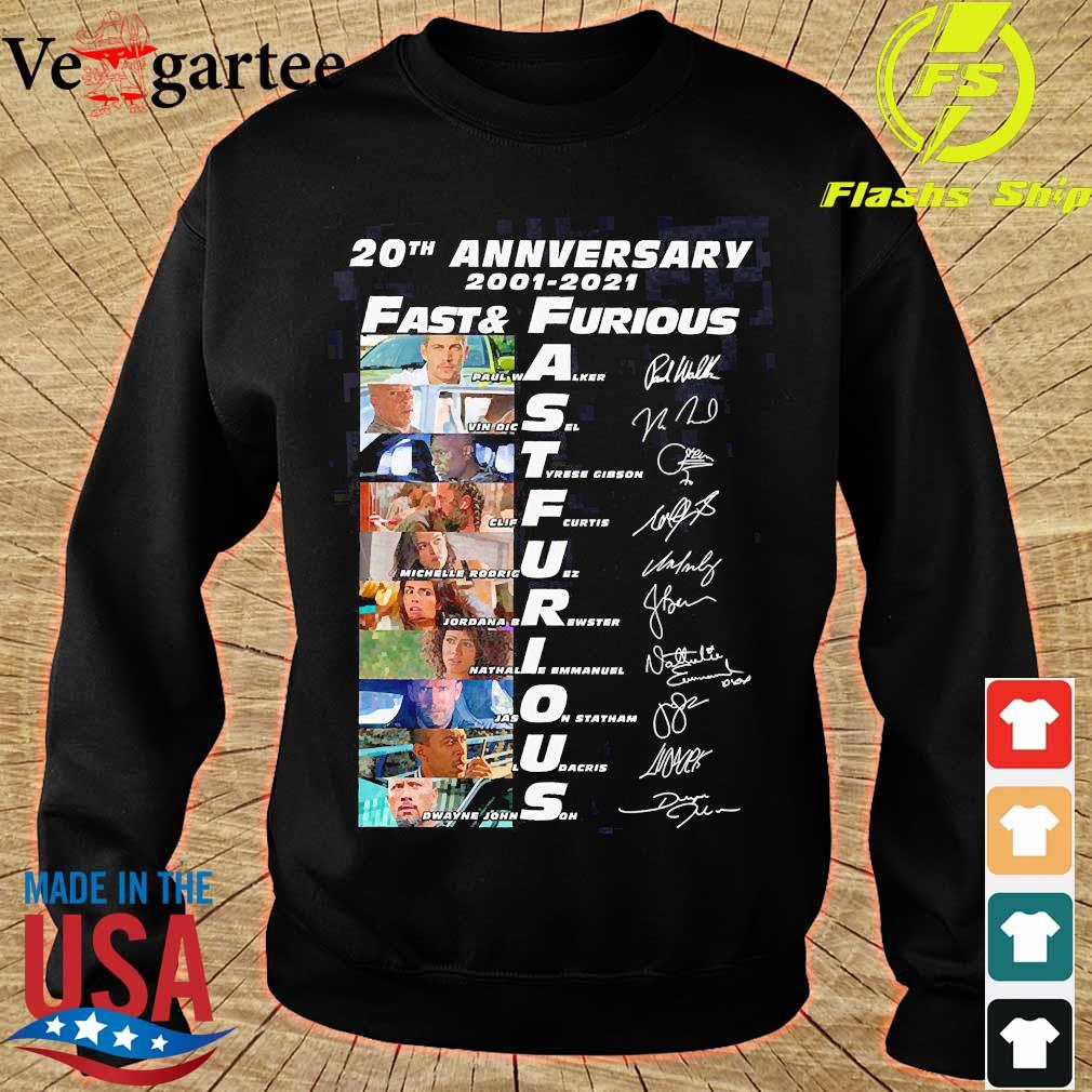 20th anniversary 2001 2021 Fast and Furious members signatures s sweater