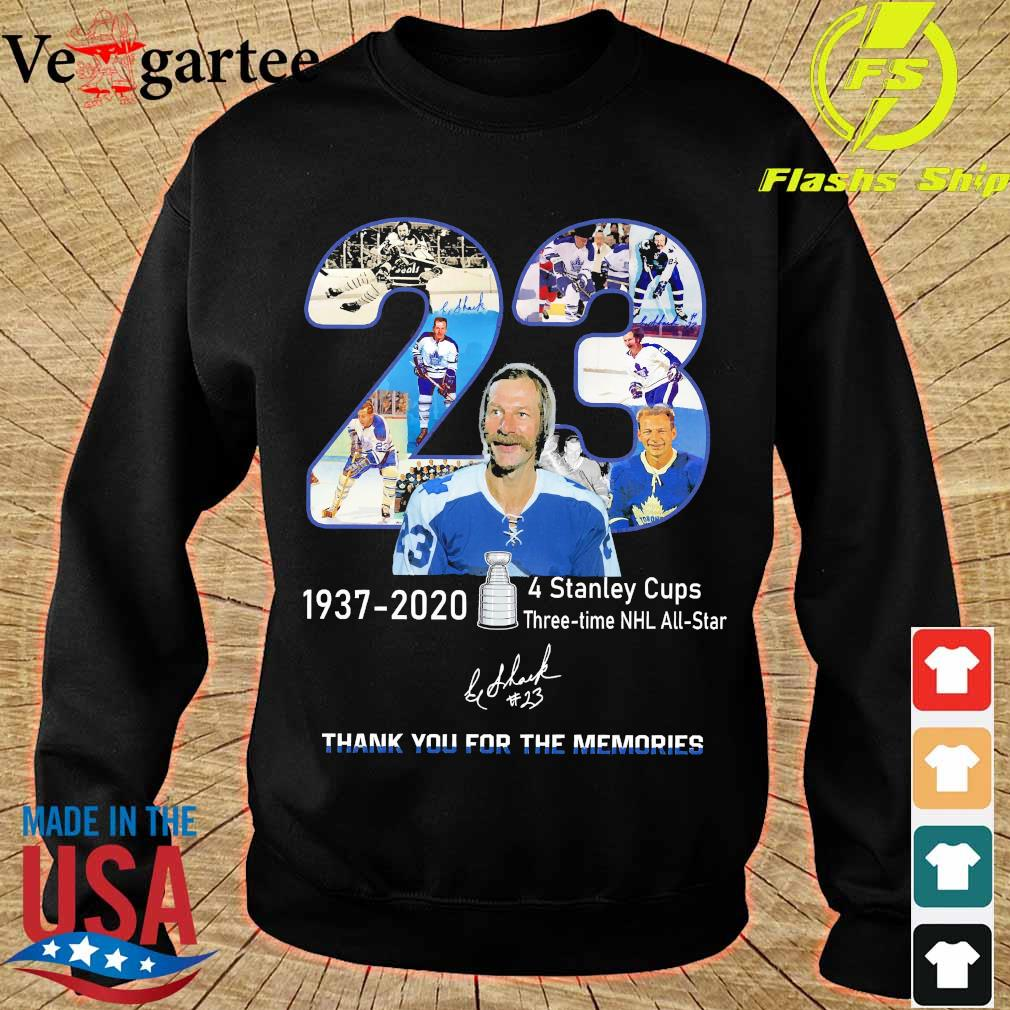 23 1937 2020 4 stanley cups three time NHL all star thank You for the memories signature s sweater