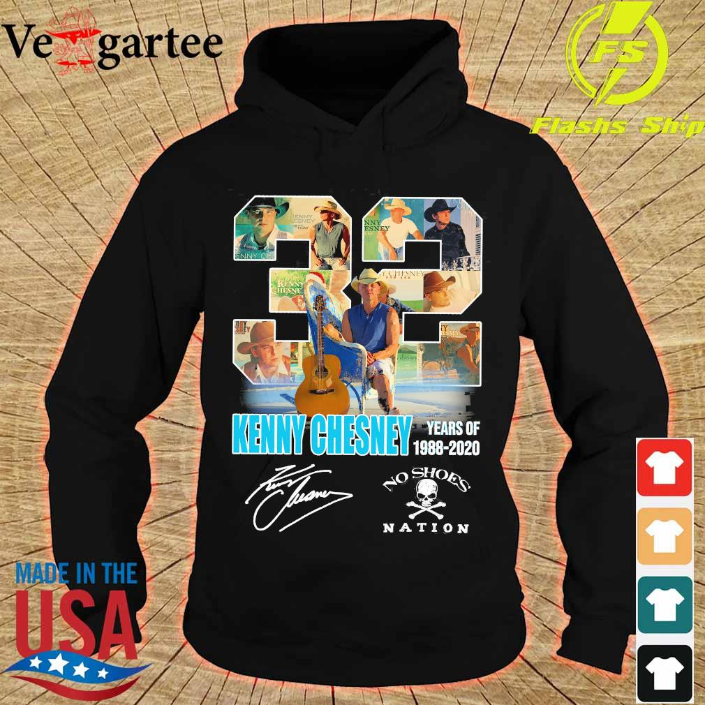 32 Kenny Chesney years of 1988 2020 no shoes nation signature s hoodie