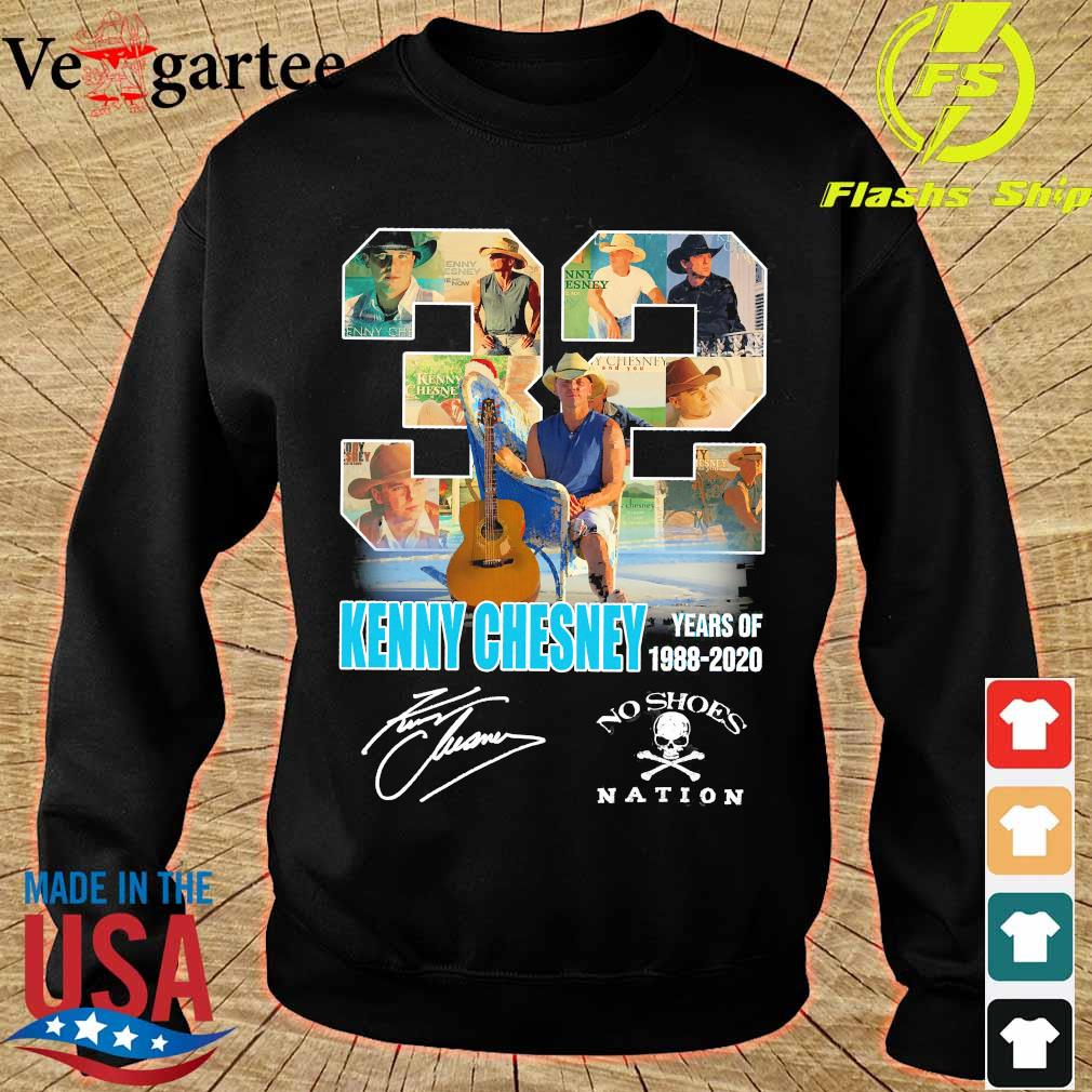 32 Kenny Chesney years of 1988 2020 no shoes nation signature s sweater