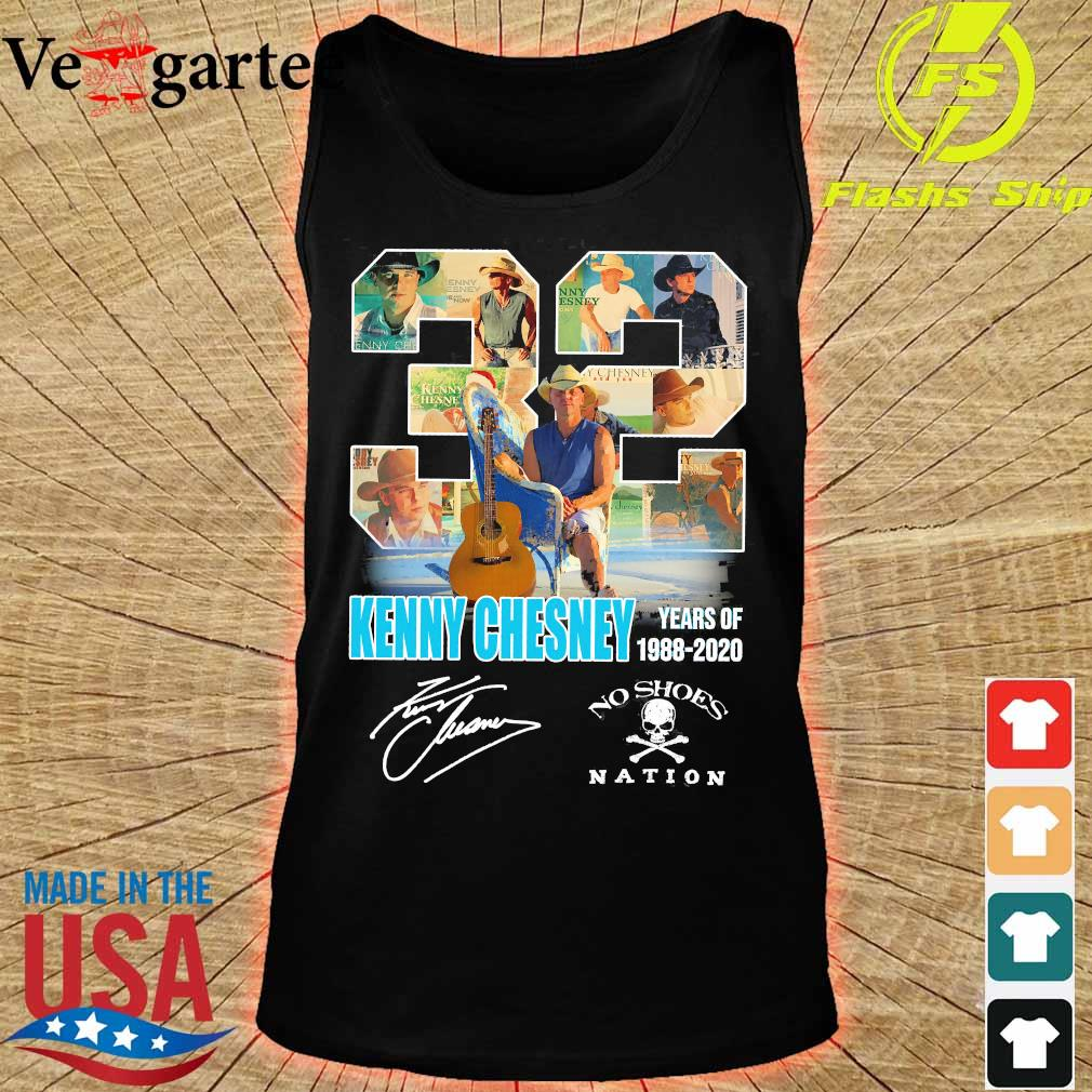 32 Kenny Chesney years of 1988 2020 no shoes nation signature s tank top