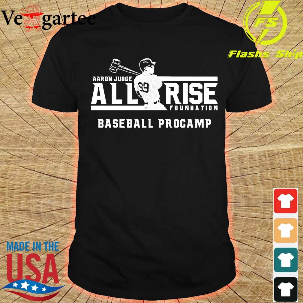 Aaron Judge all rise foundation baseball procamp shirt