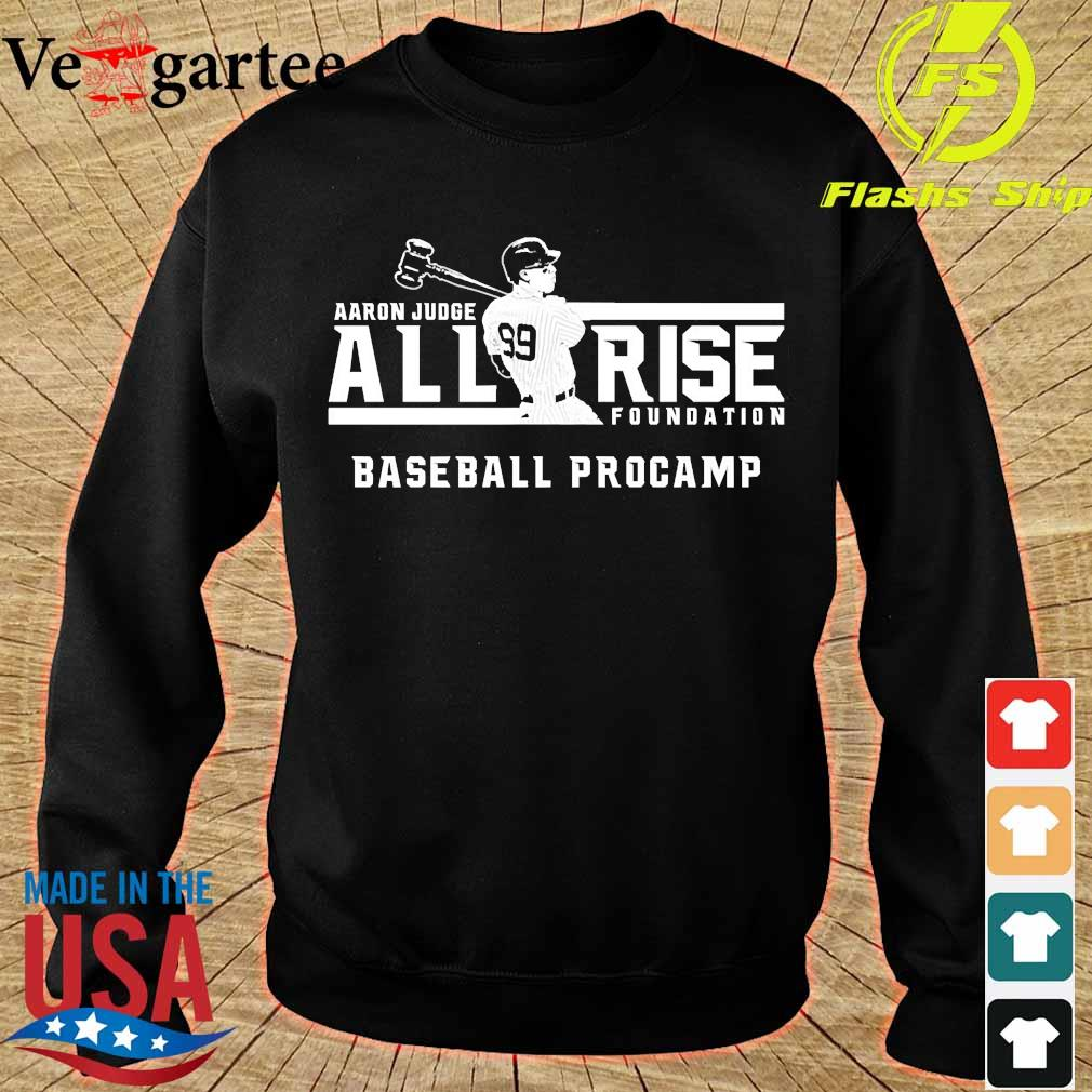 Aaron Judge all rise foundation baseball procamp s sweater