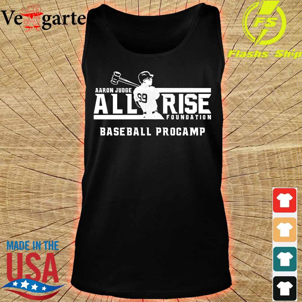 Aaron Judge all rise foundation baseball procamp s tank top