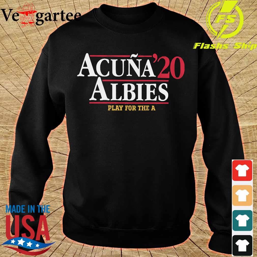Acuna 20 Albies play for the a s sweater
