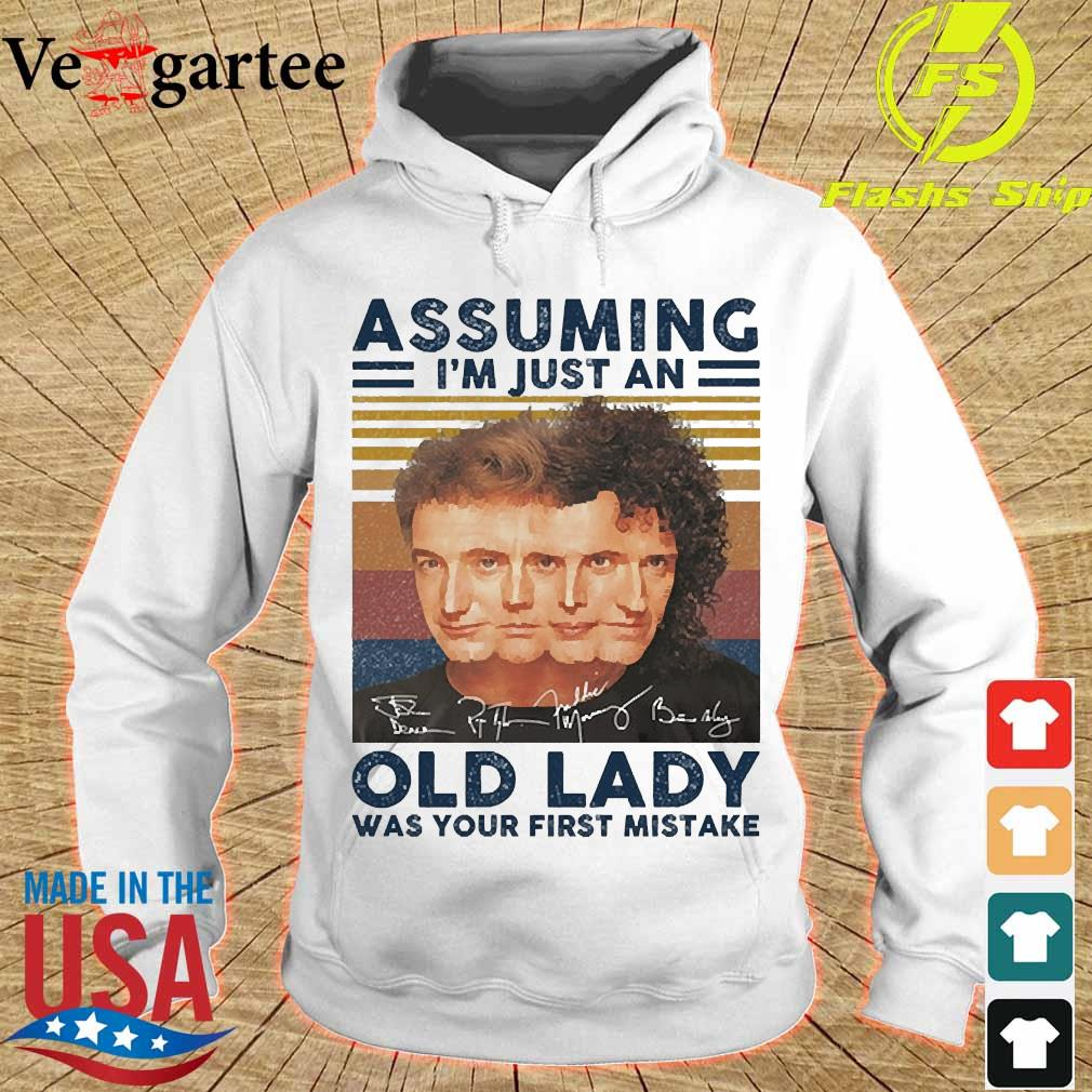 Assuming I'm just an old lady was your first mistake signatures vintage s hoodie