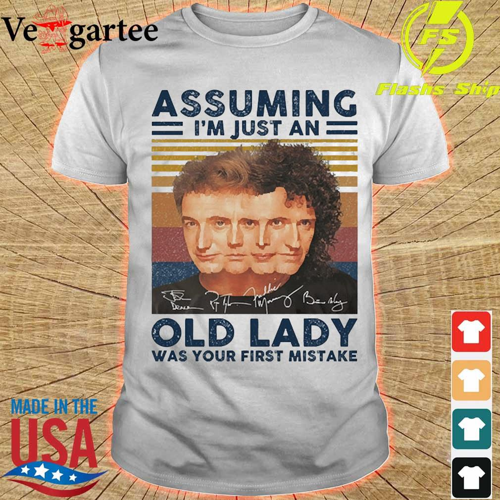 Assuming I'm just an old lady was your first mistake signatures vintage shirt