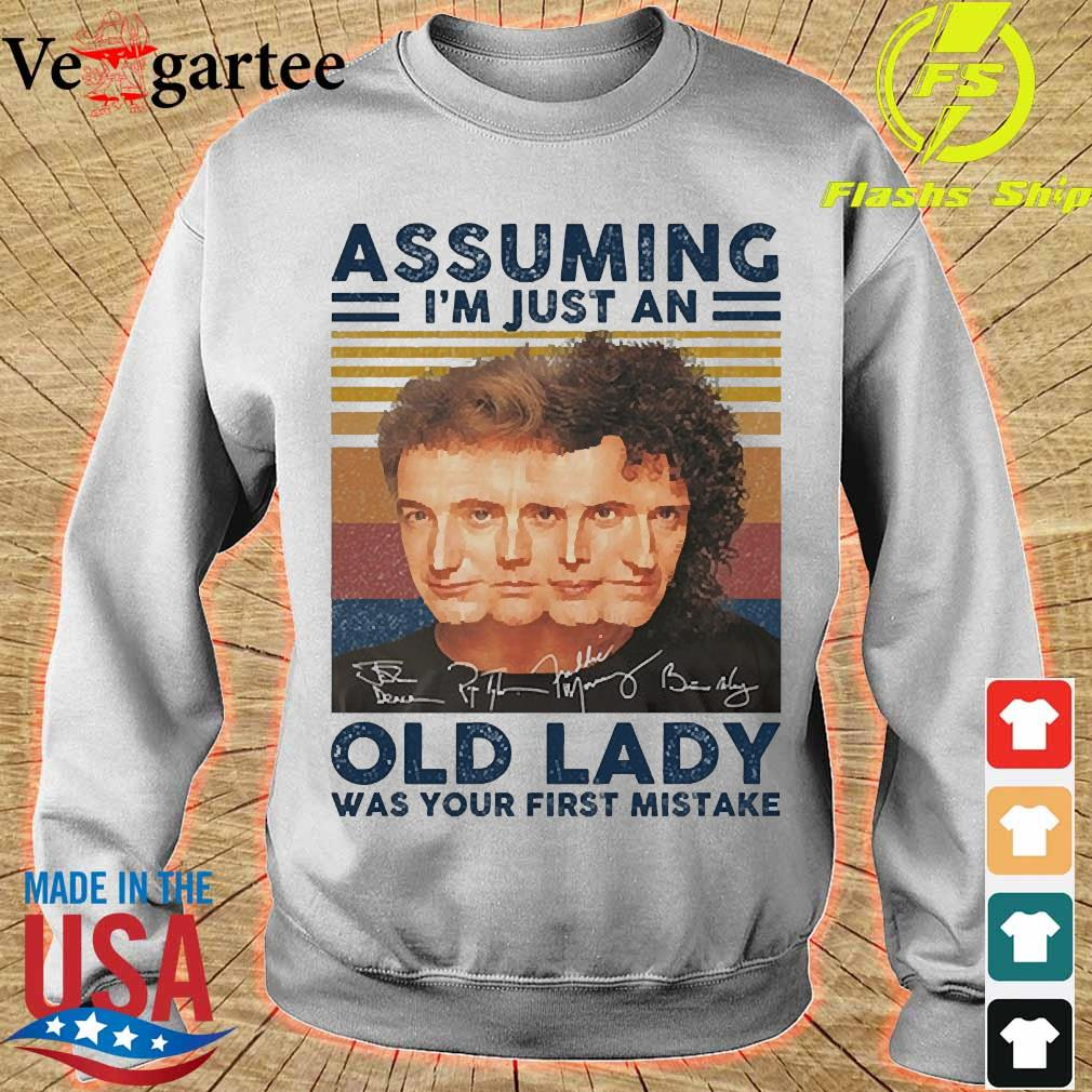 Assuming I'm just an old lady was your first mistake signatures vintage s sweater
