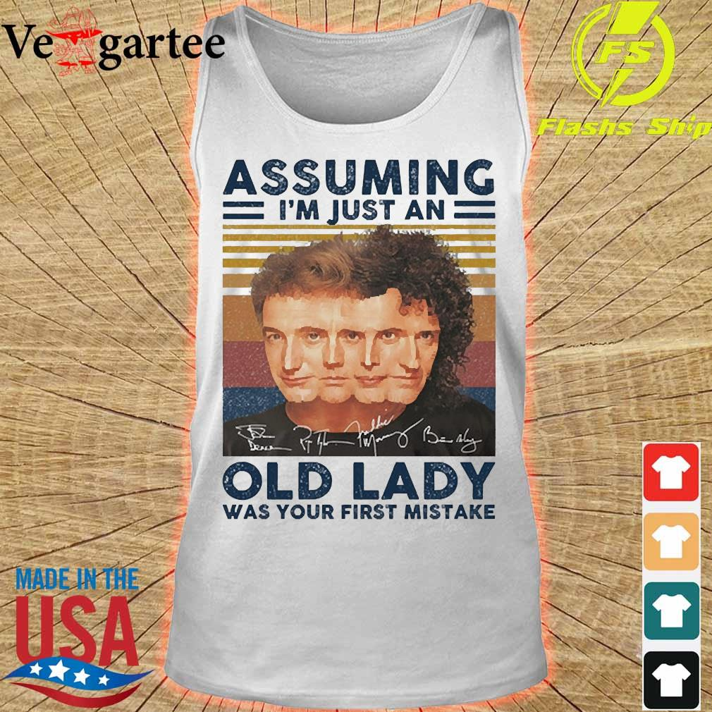 Assuming I'm just an old lady was your first mistake signatures vintage s tank top