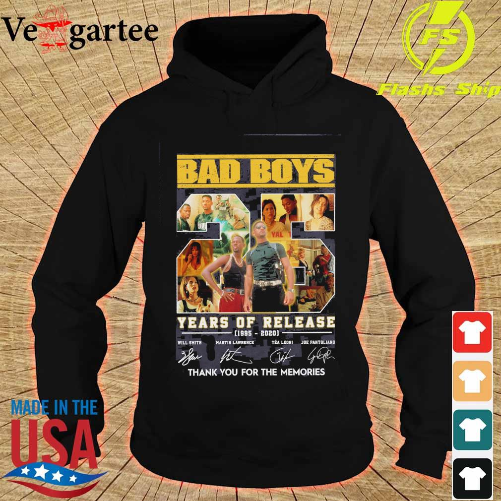 Bad boys 25 years of Release 1995 2020 signatures s hoodie