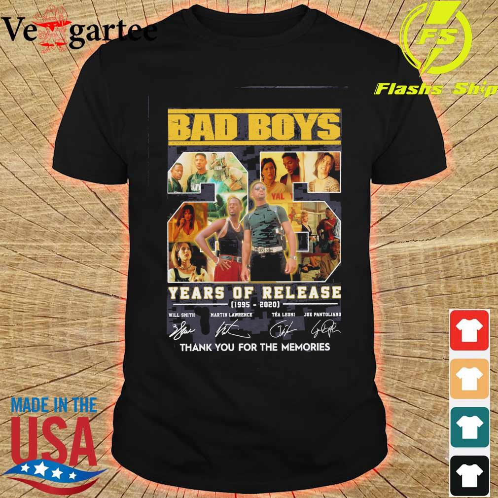 Bad boys 25 years of Release 1995 2020 signatures shirt