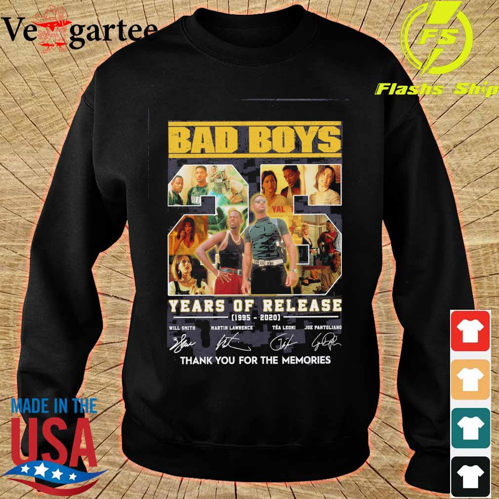 Bad boys 25 years of Release 1995 2020 signatures s sweater