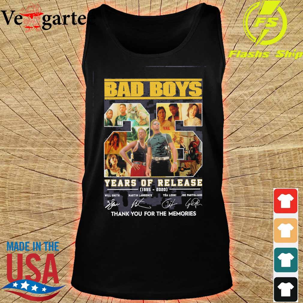 Bad boys 25 years of Release 1995 2020 signatures s tank top