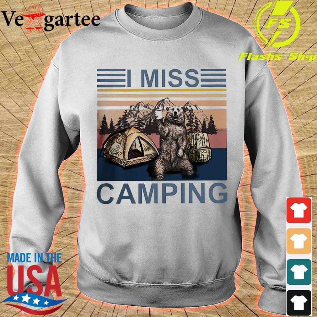 Bear I miss camping vintage s sweater