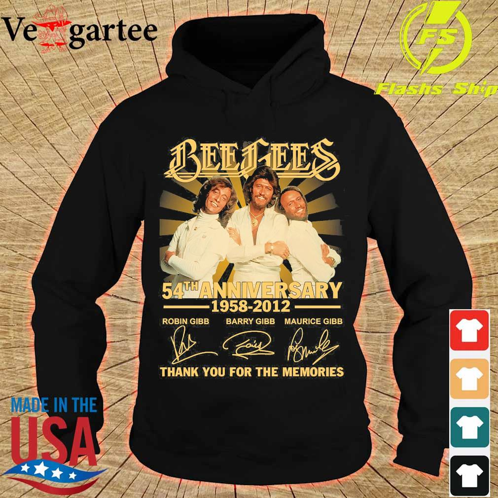 Bee Gees 54th anniversary 1958 2012 thank You for the memories signatures s hoodie