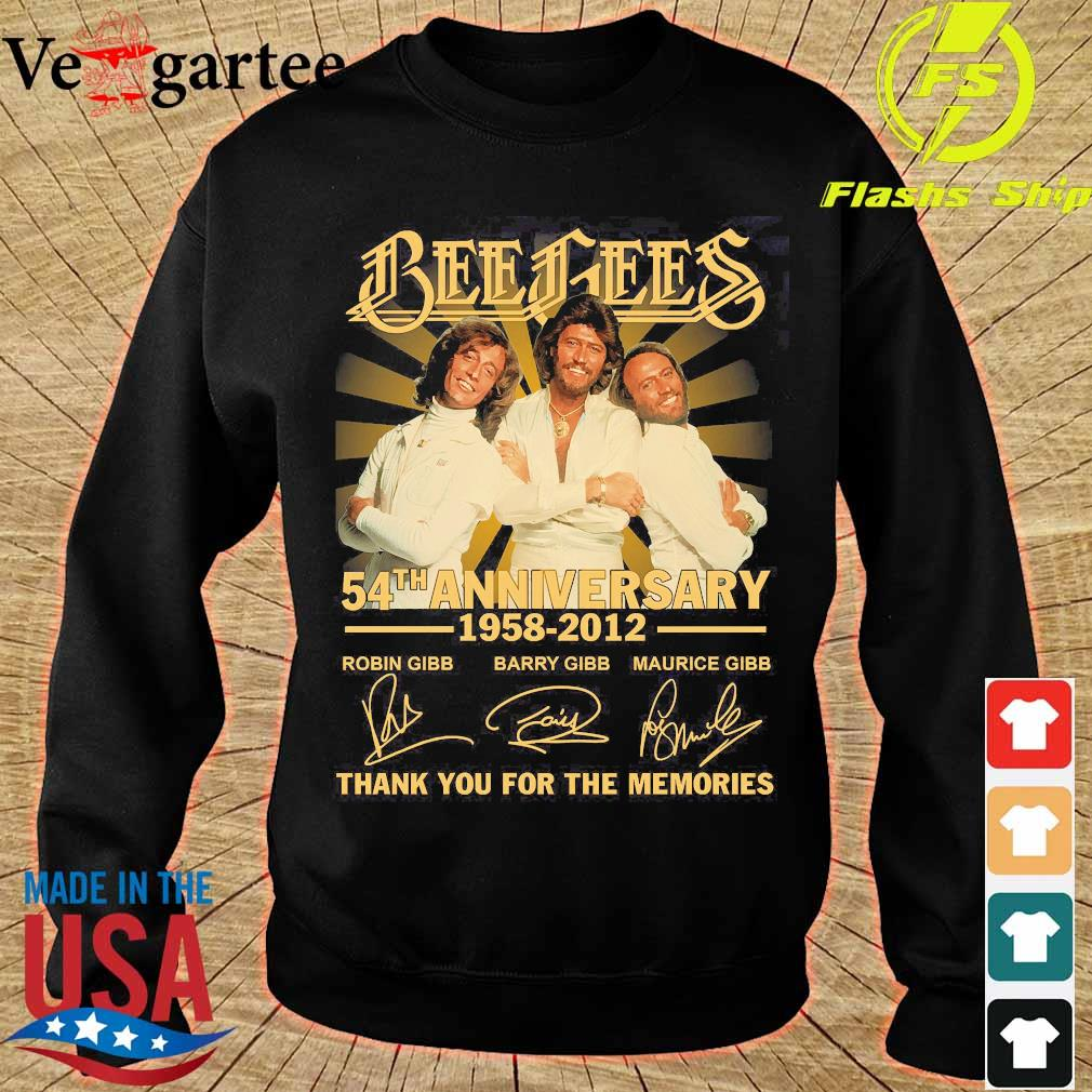 Bee Gees 54th anniversary 1958 2012 thank You for the memories signatures s sweater