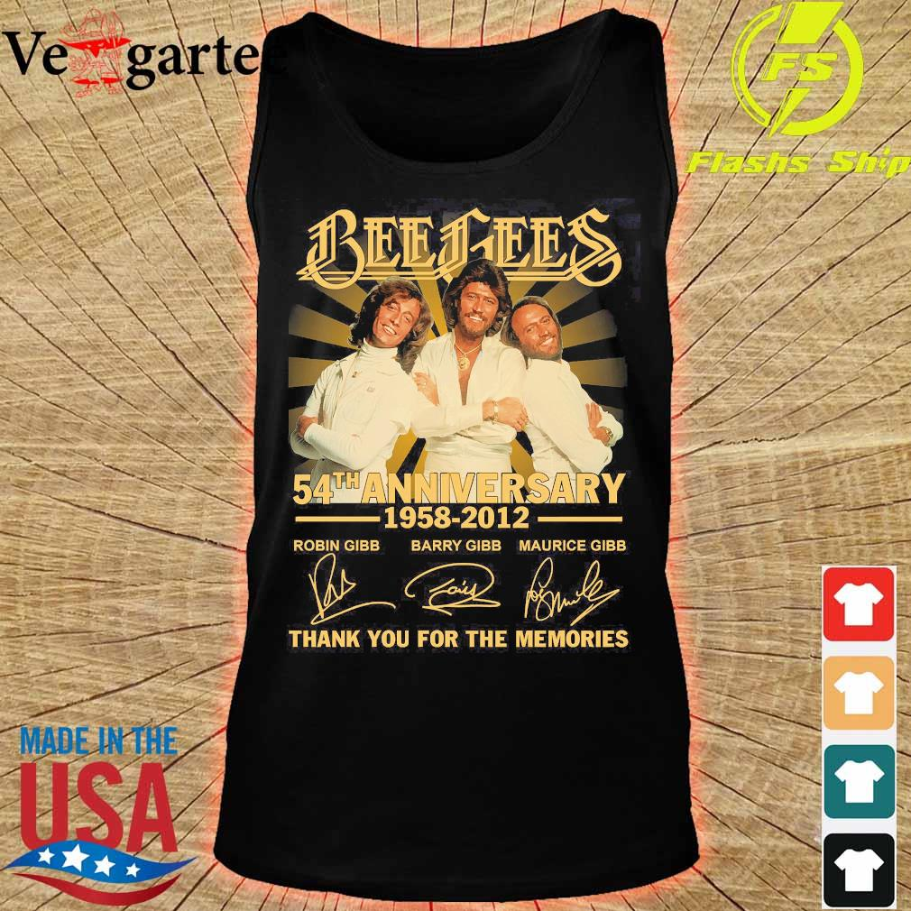 Bee Gees 54th anniversary 1958 2012 thank You for the memories signatures s tank top