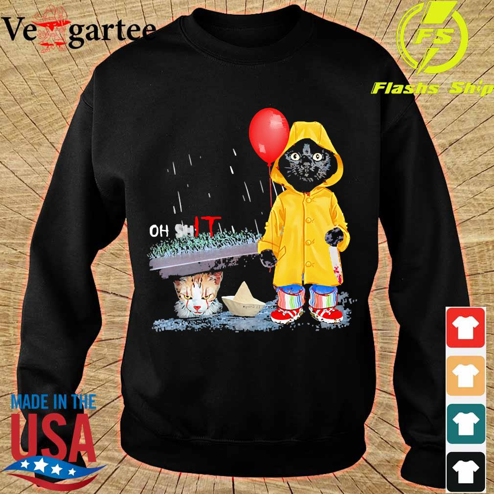 Black Cat oh shit Cat pennywise It s sweater