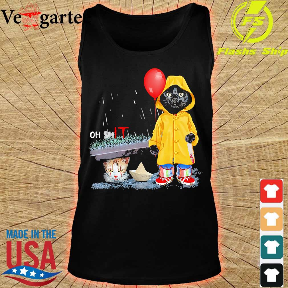 Black Cat oh shit Cat pennywise It s tank top