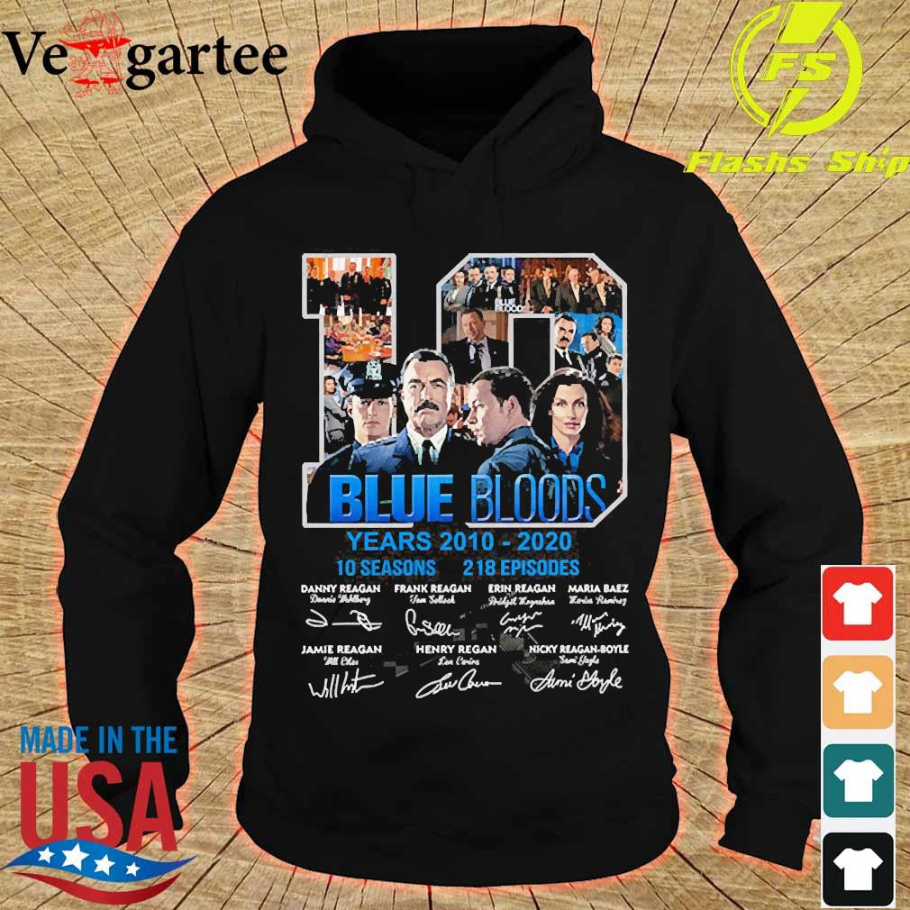 Blue Bloods 10 years 2010 2020 10 seasons 218 episodes signatures s hoodie