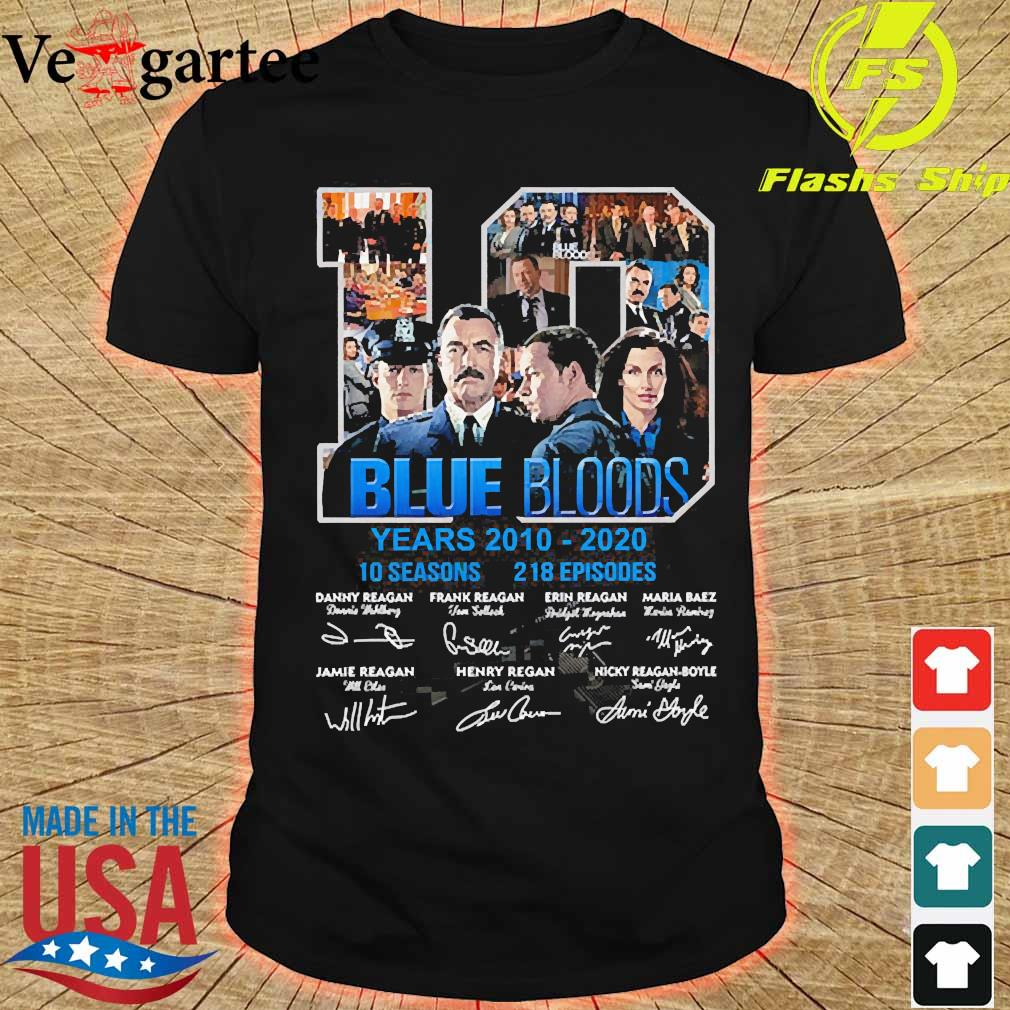 Blue Bloods 10 years 2010 2020 10 seasons 218 episodes signatures shirt