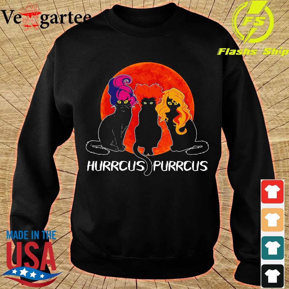 Cats Hurrcus purrcus blood moon s sweater