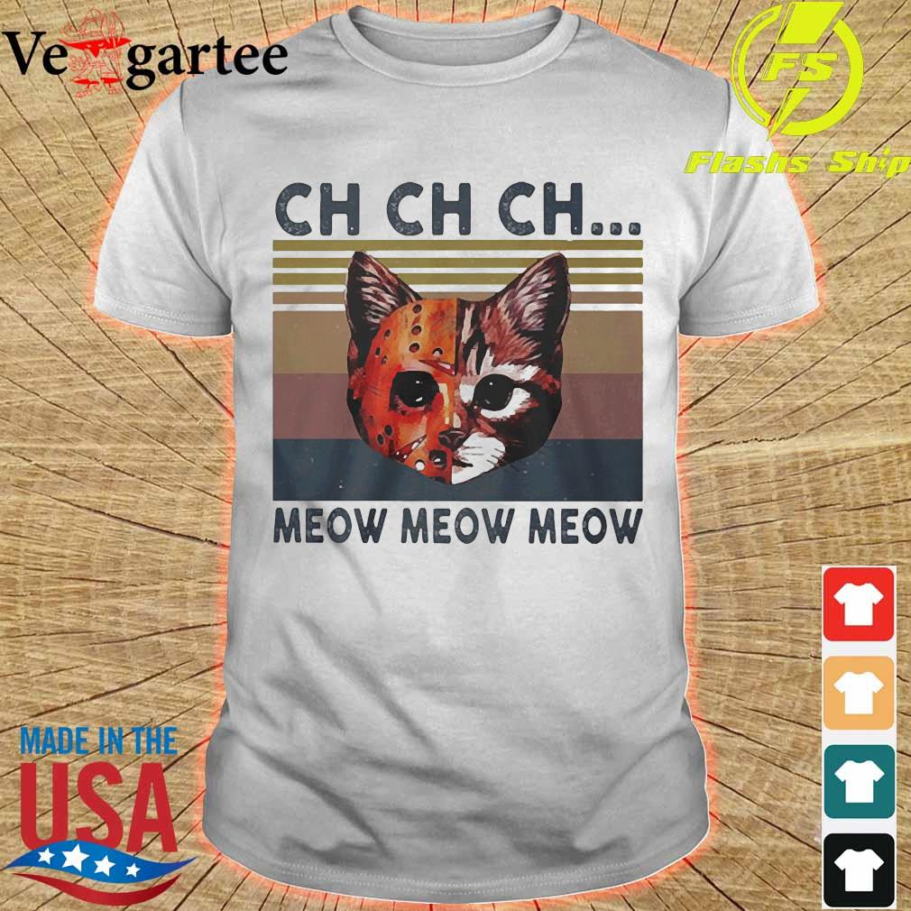 Cats Jason Voorhees CH CH CH meow meow meow vintage shirt