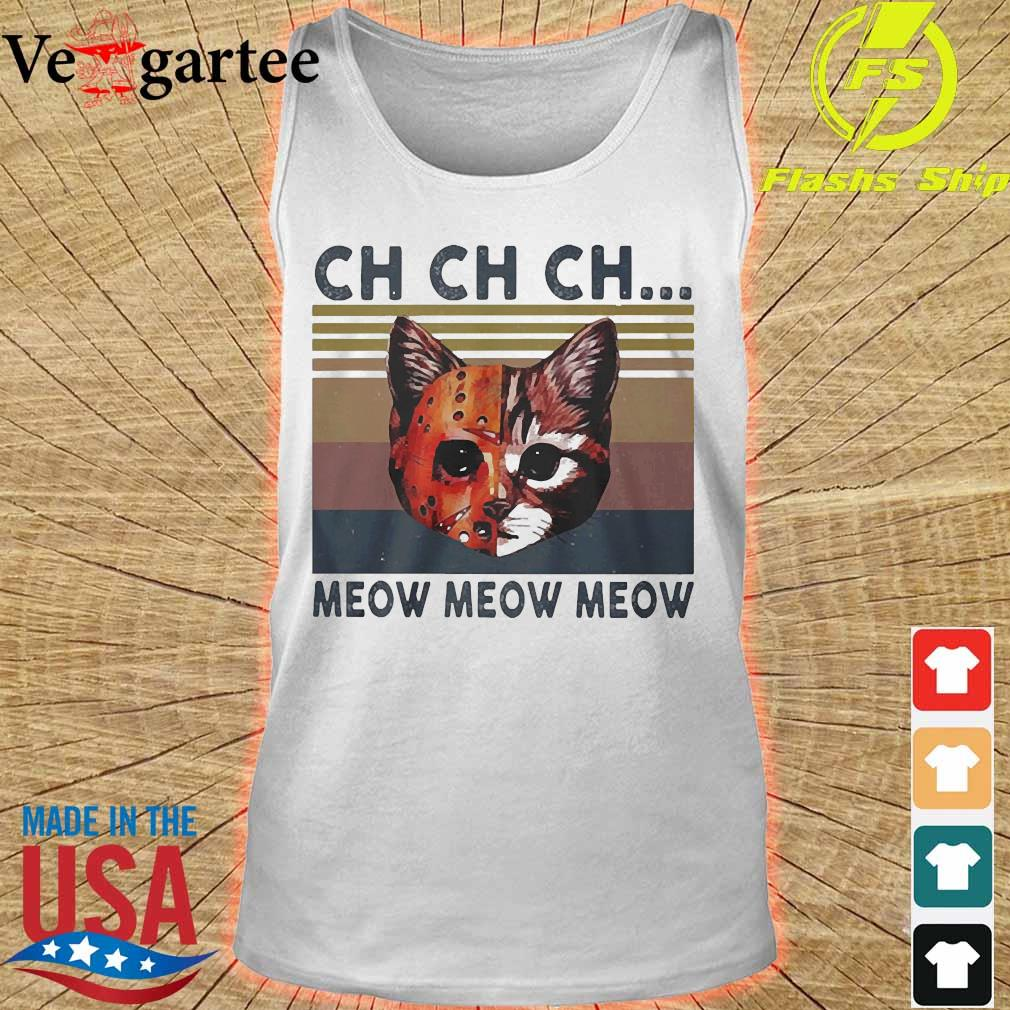 Cats Jason Voorhees CH CH CH meow meow meow vintage s tank top