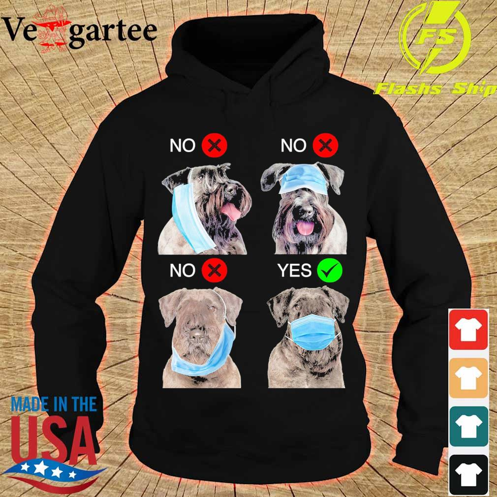 Cesky Terrier Right Way To Wear Mask s hoodie