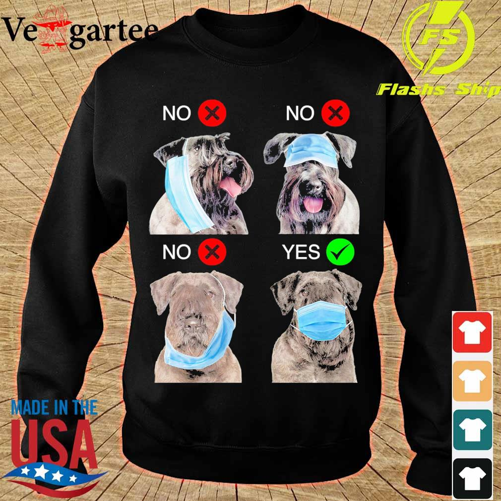 Cesky Terrier Right Way To Wear Mask s sweater