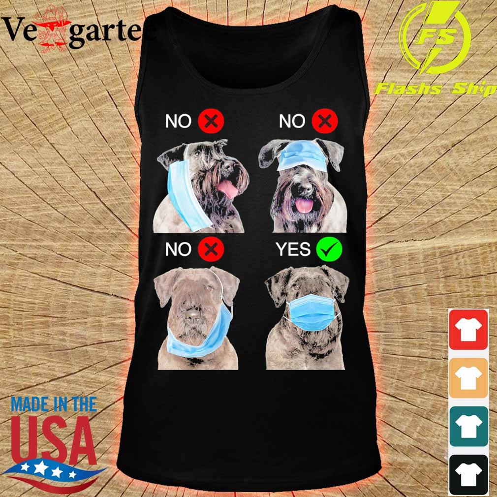 Cesky Terrier Right Way To Wear Mask s tank top