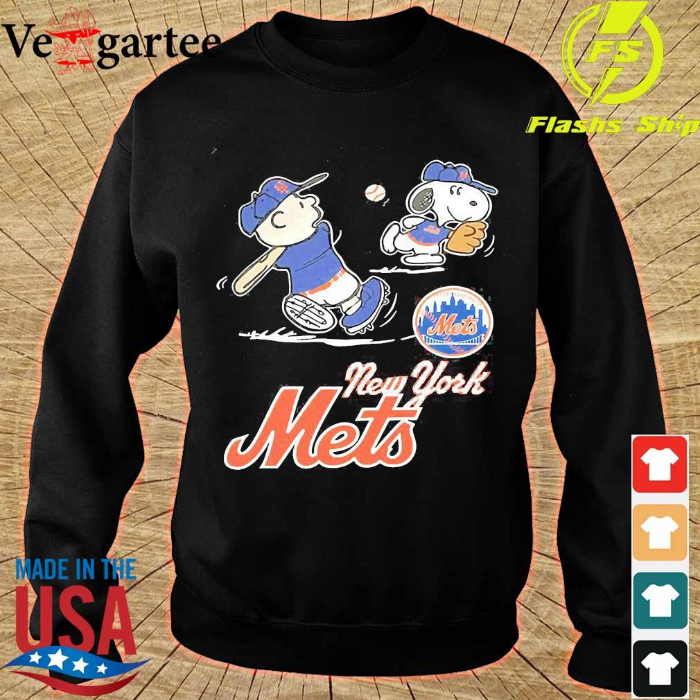 Charlie Brown And Snoopy play Baseball New York Mets s sweater