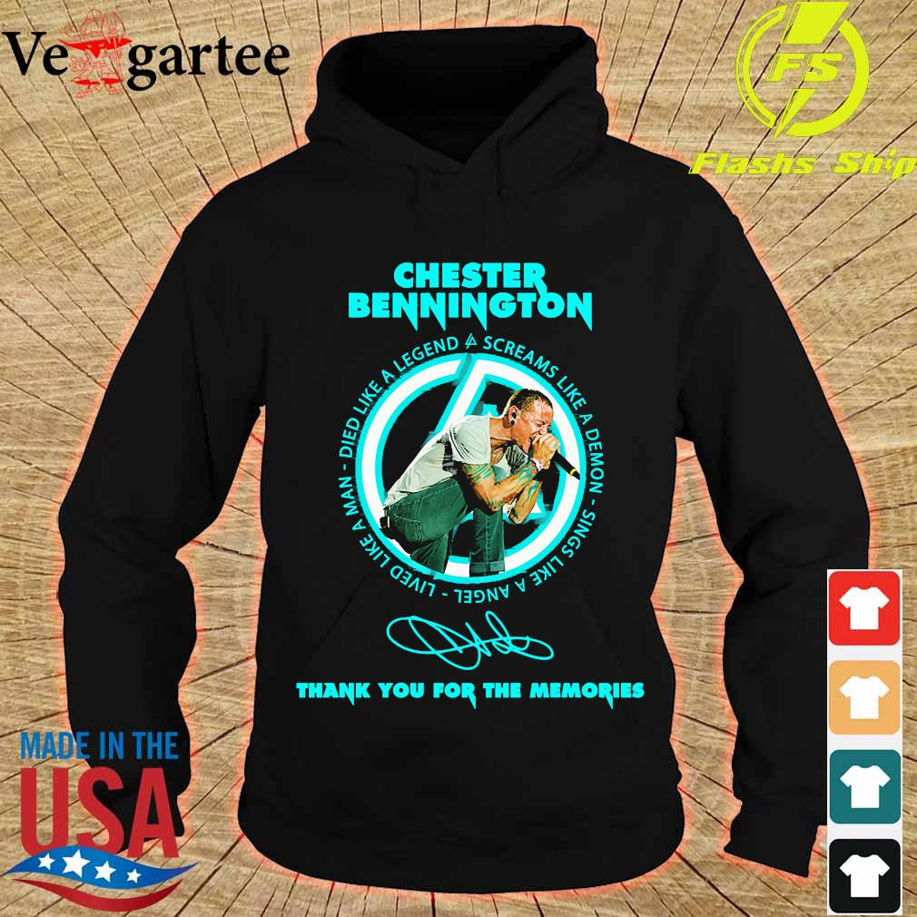 Chester Bennington thank You for the memories signature s hoodie