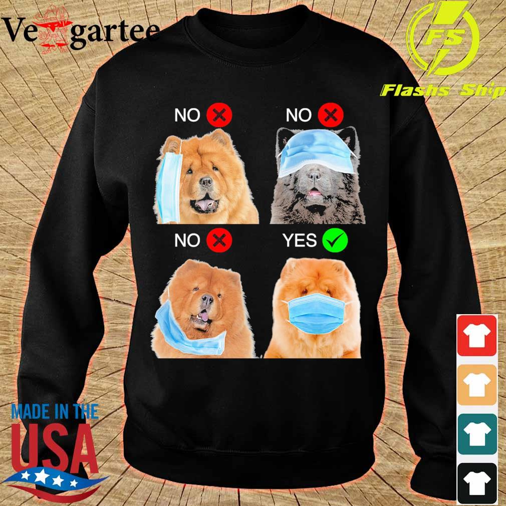 Chow Chow Right Way To Wear Mask s sweater
