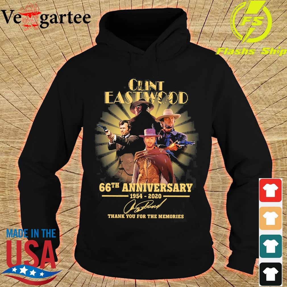 Clint Eastwood 66th anniversary 1954 2020 thank You for the memories signature s hoodie