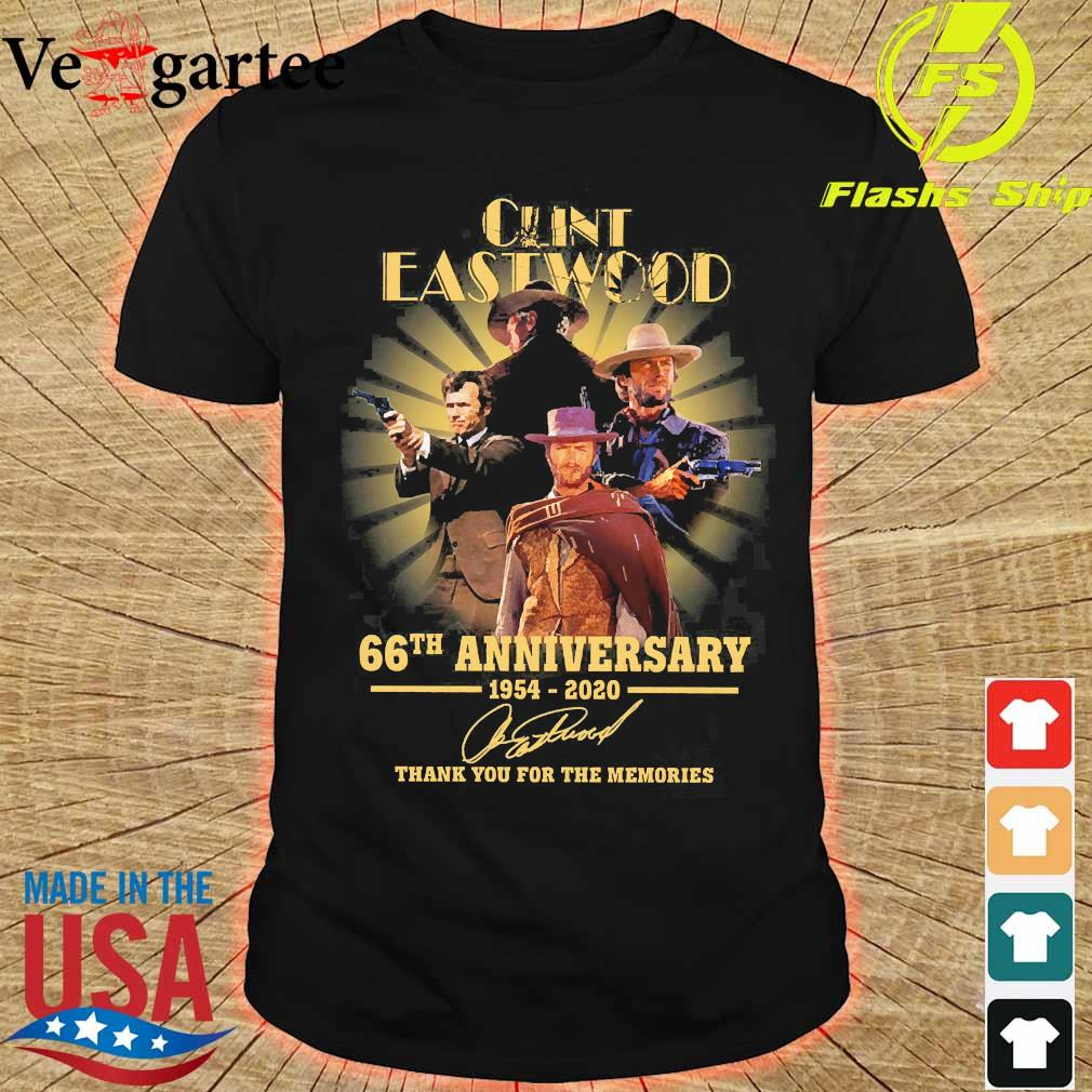 Clint Eastwood 66th anniversary 1954 2020 thank You for the memories signature shirt