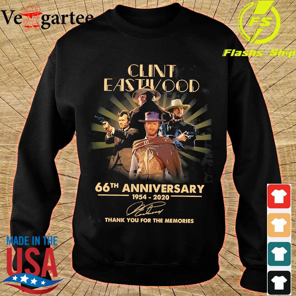 Clint Eastwood 66th anniversary 1954 2020 thank You for the memories signature s sweater