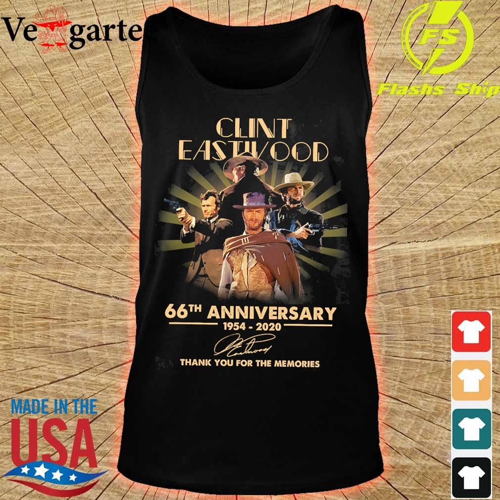 Clint Eastwood 66th anniversary 1954 2020 thank You for the memories signature s tank top