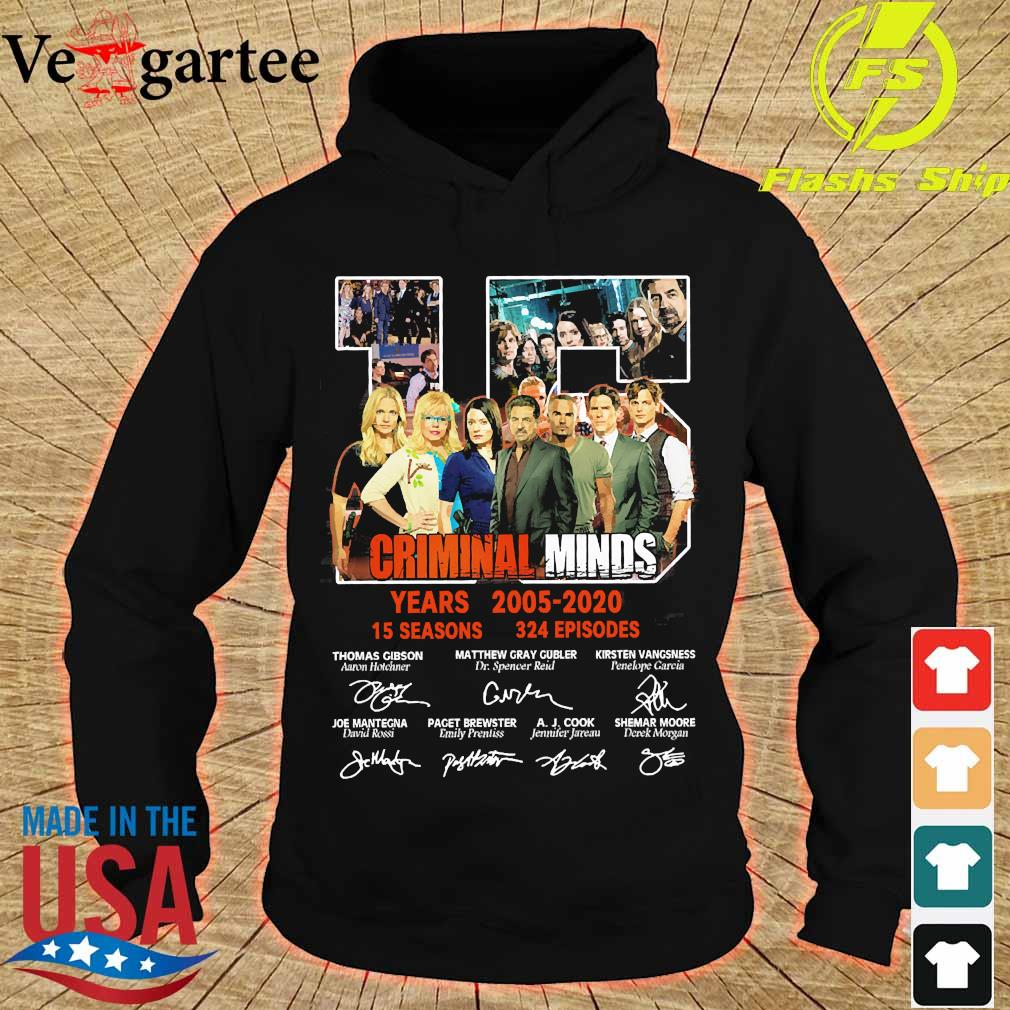 Criminal Minds 15 years 2005 2020 15 seasons 324 episodes signature s hoodie