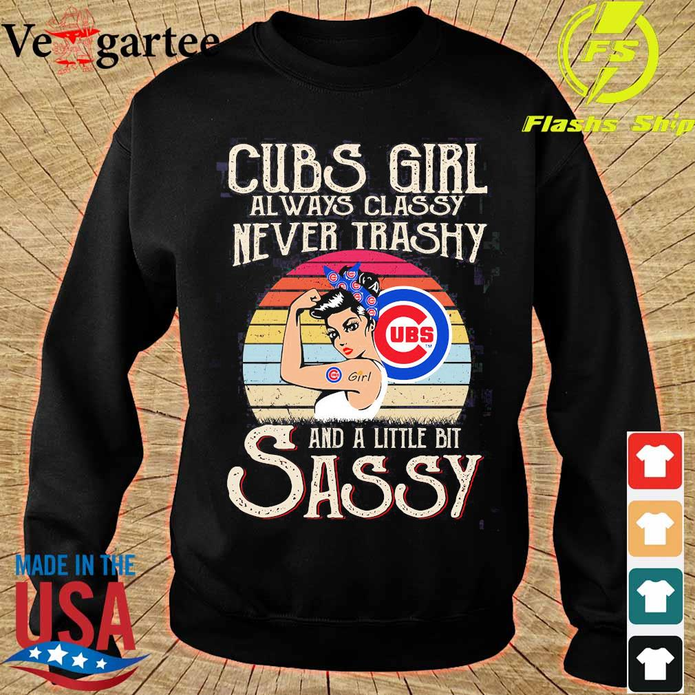 Cubs girl always classy never trashy and a little bit sassy vintage s sweater
