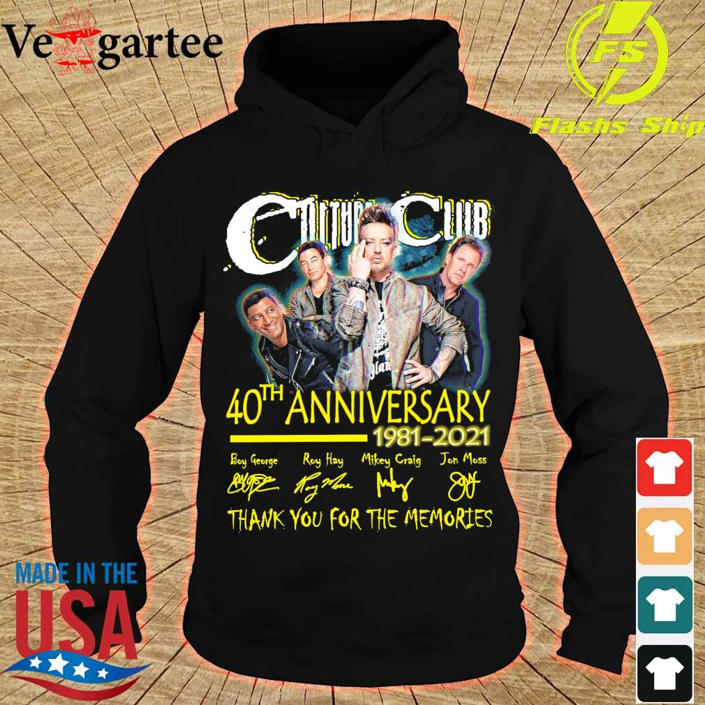 Culture club 40TH Anniversary 1981 2021 signatures s hoodie