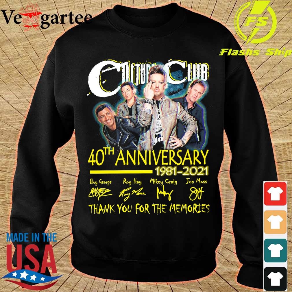 Culture club 40TH Anniversary 1981 2021 signatures s sweater