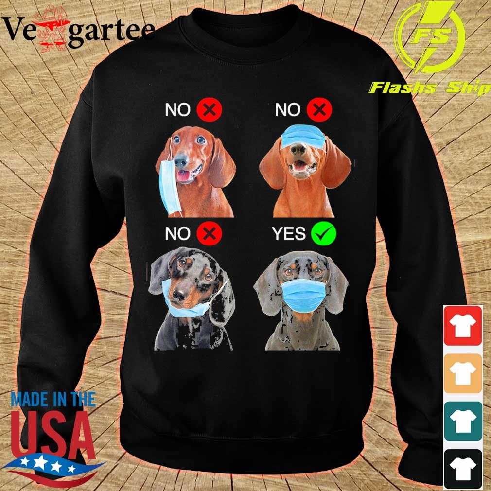 Dachshund Right Way To Wear Mask s sweater