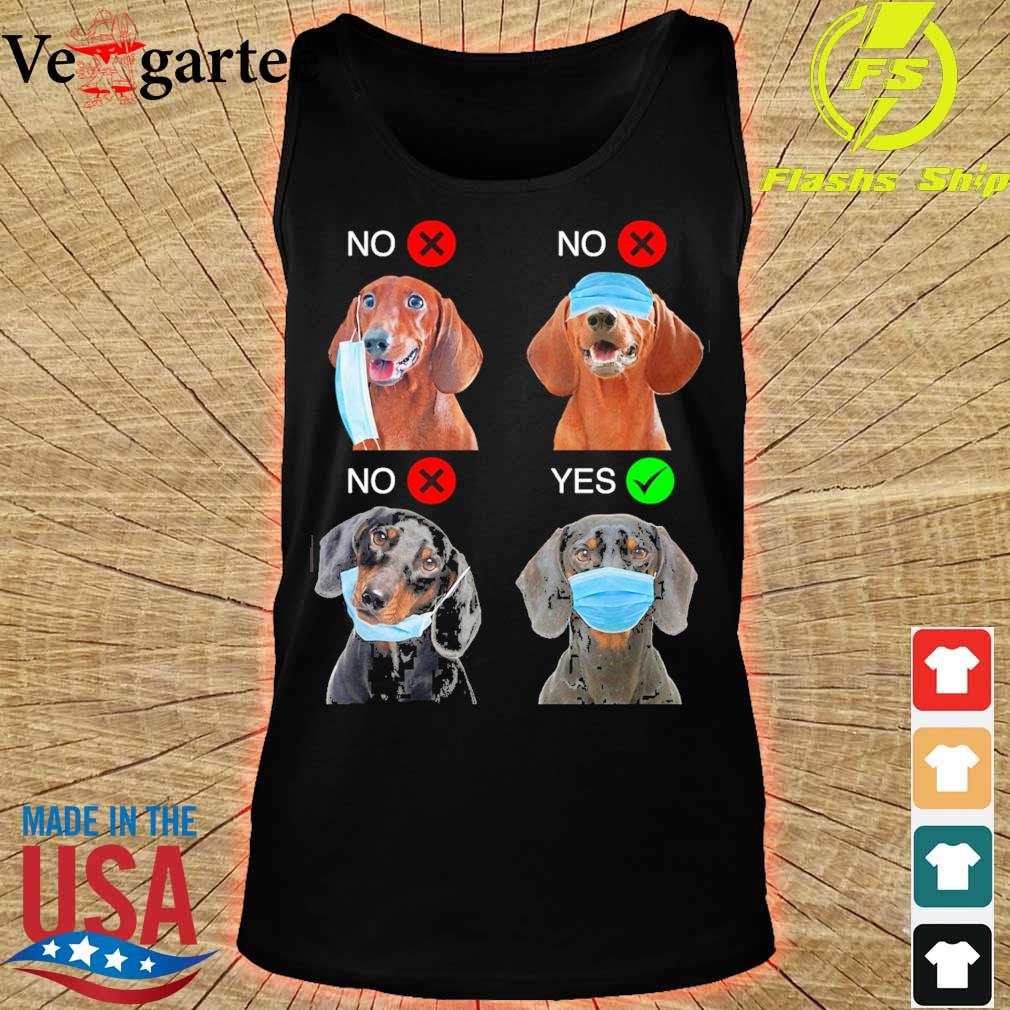 Dachshund Right Way To Wear Mask s tank top